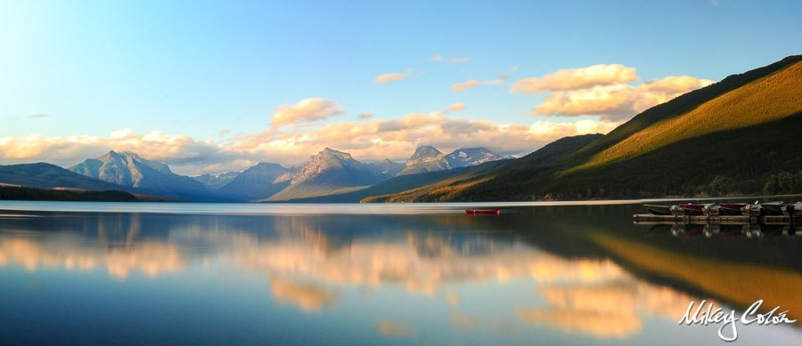 STUNNING PHOTO LAKE MC DONALD GLACIER NATIONAL PARK