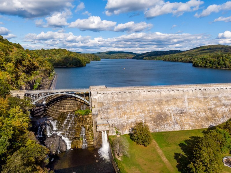 NEW CROTON DAM AERIAL DECOR ART FOR HOME OFFICE