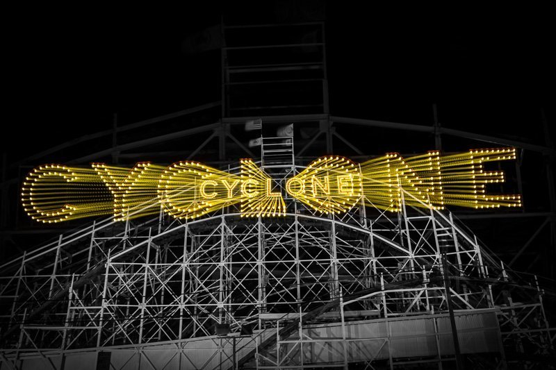 coney island cyclone amazing creative wall art