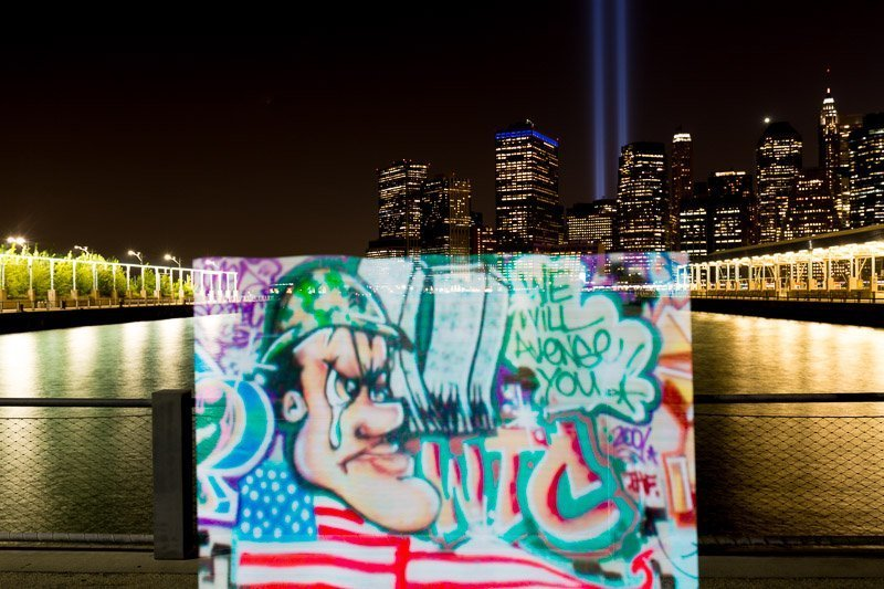tb light painting pixelstick brooklyn new york september 11