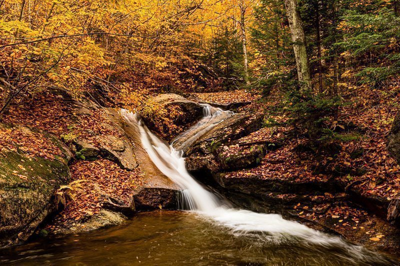 Champney Brook Waterfall White Mountains New Hampshire