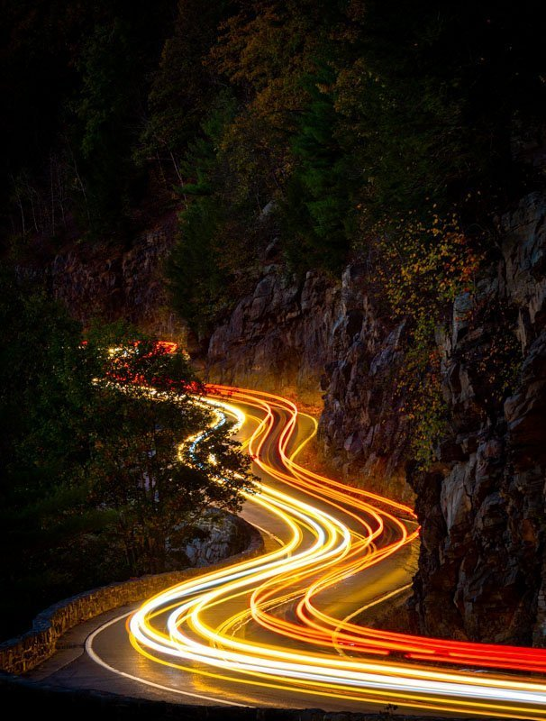 Hawks Nest Highway amazing long exposure photo