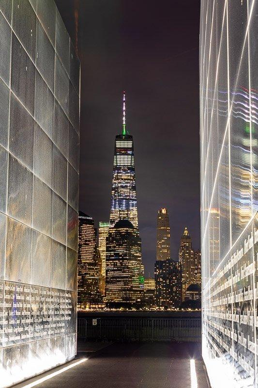 empty sky 911 memorial at night - colonphoto.com