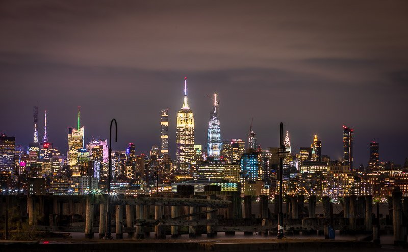 liberty state park jersey city long exposure nighgt - art decor - colonphoto.com