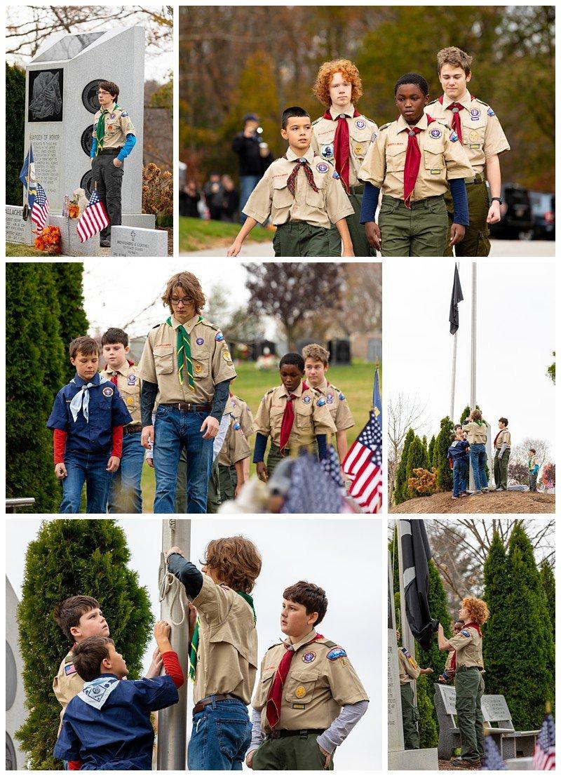 west roxbury boston boy scouts flag retirement ceremony