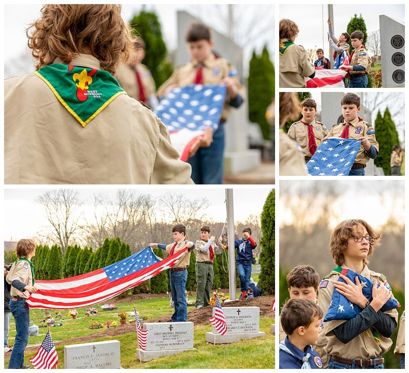 west roxbury boston event photographer boy scouts flag retirement ceremony the gardens