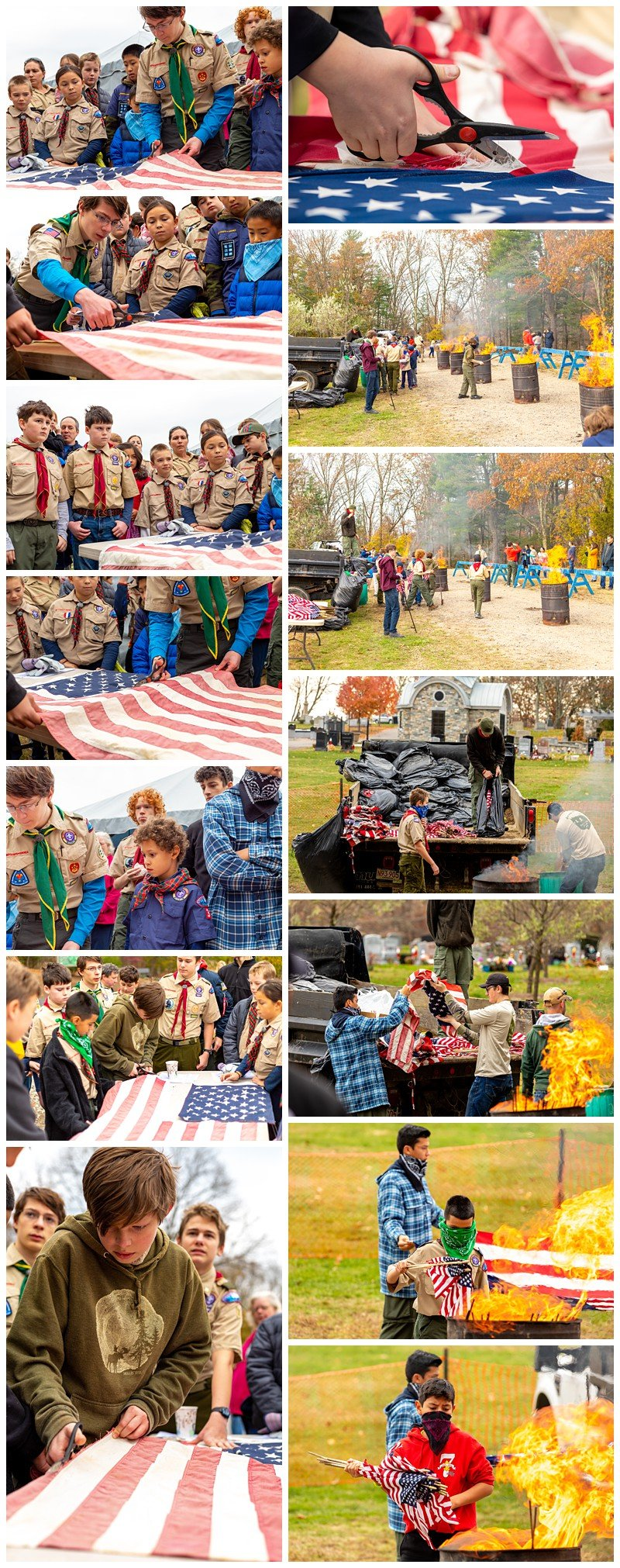 flag retirement boston west roxbury scouts