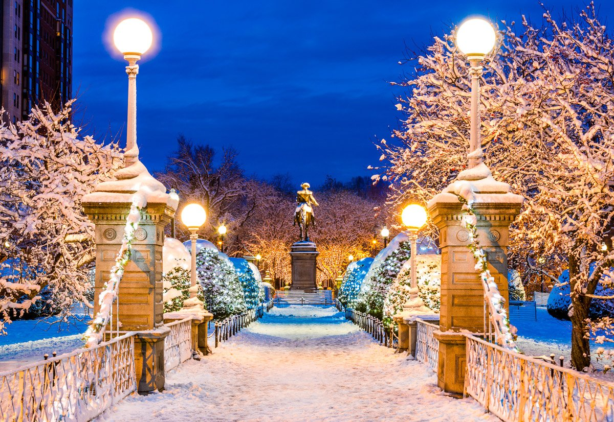 boston common winter wonderland photo