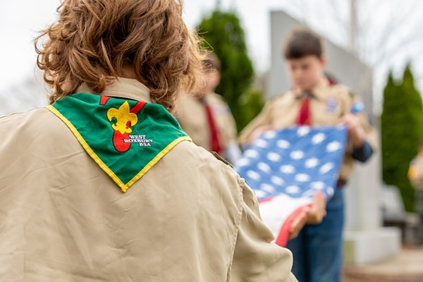 The Gardens at Gethsemane Scouts Flag Retirement Ceremony 2019