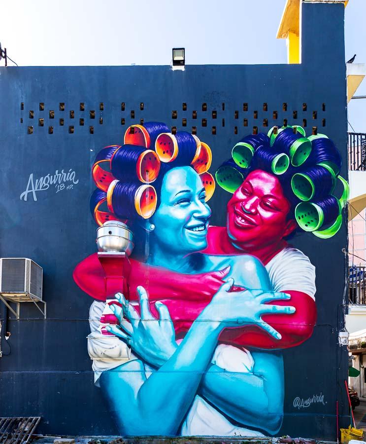 Angurria's art puerto rico wall