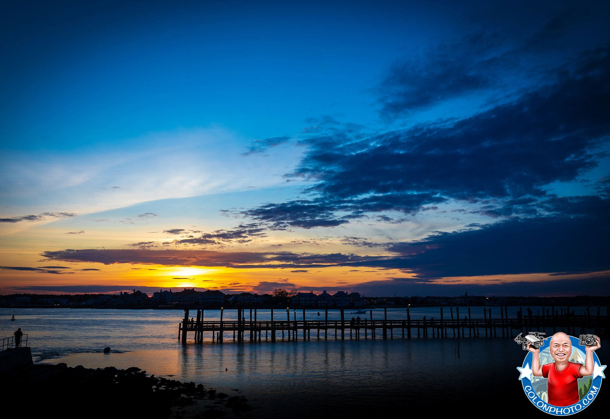 OCEAN-CITY-MARYLAND---EPIC-BEAUTIFUL-SUNSET-PHOTO-BLUE-HOUR---colonphoto.com
