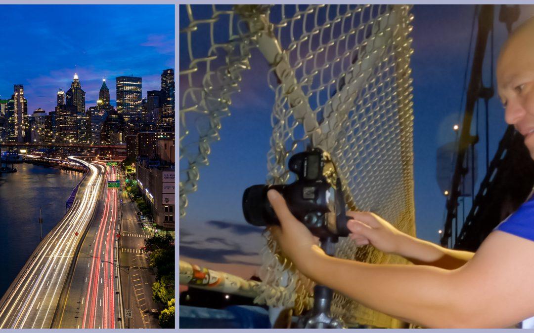 (VIDEO) Capturing Long Exposures On The Manhattan Bridge (On Location Tutorial)