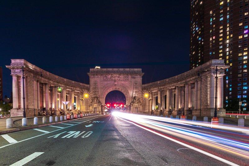 manhattan bridge facade - long exposure image inspiration